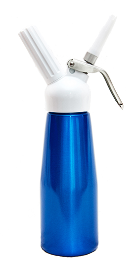 Best Whip Tall 1/2 litre Cream Dispenser- Blue