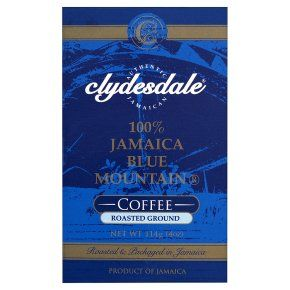 Clydesdale Jamaica Blue Mountain roasted ground coffee beans 114g