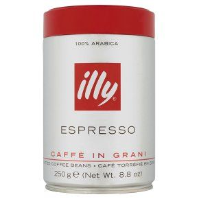 illy espresso caffe in grani roasted coffee beans 250g