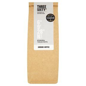 Three Sixty° Ethiopia Yirgacheffe ground coffee 250g